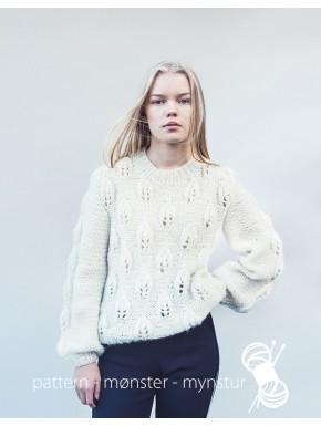 Sweater med bladmønstre